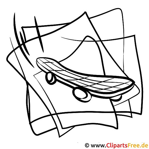 skateboard bild zum ausmalen und ausdrucken