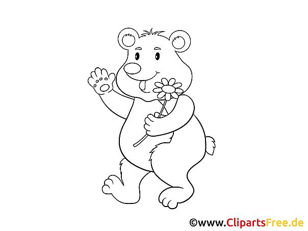bär bären malvorlagen zum ausmalen für kinder