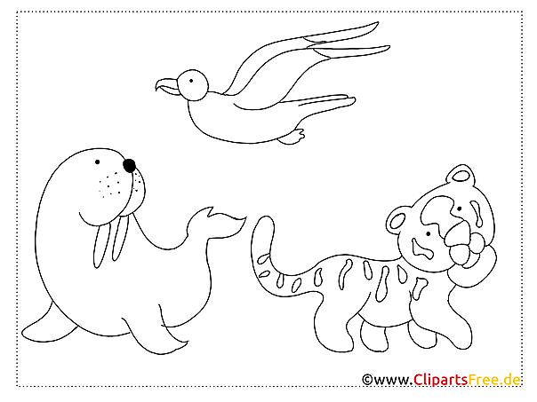 zoo einfache malvorlagen für kleine kinder