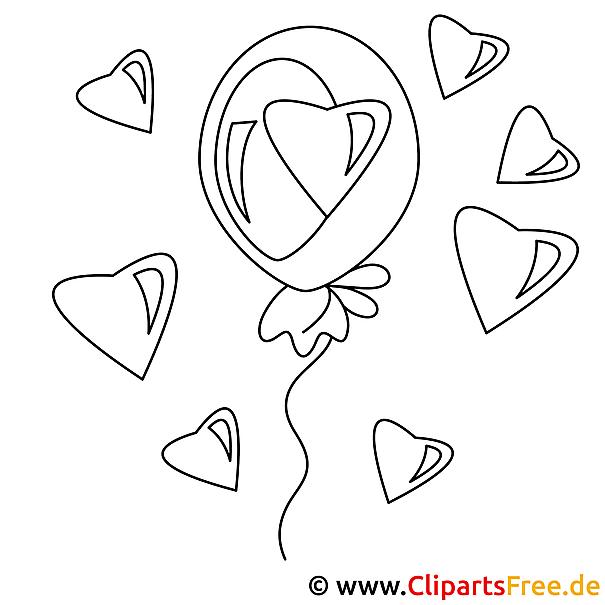 party zum valentinstag bild zum malen online