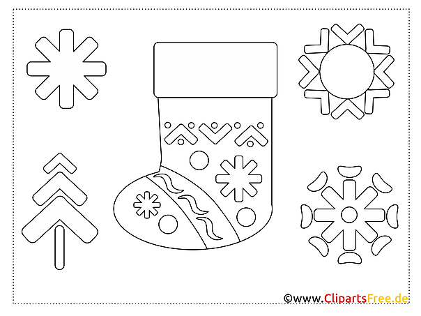 malvorlage pdf winterschuh winter