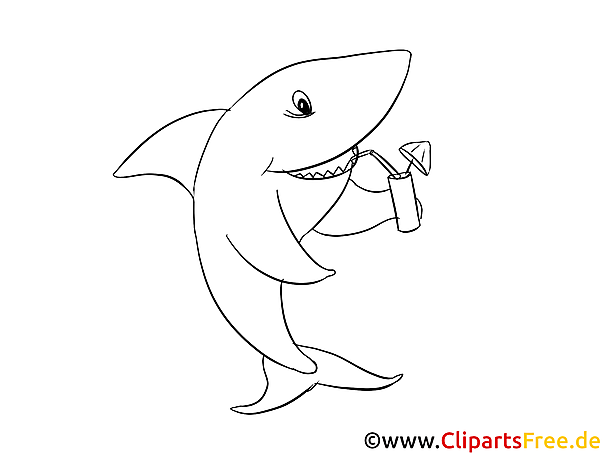 hai ausmalvorlage zum ausmalen