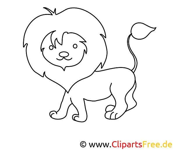 löwe ausmalbild zum ausmalen und drucken