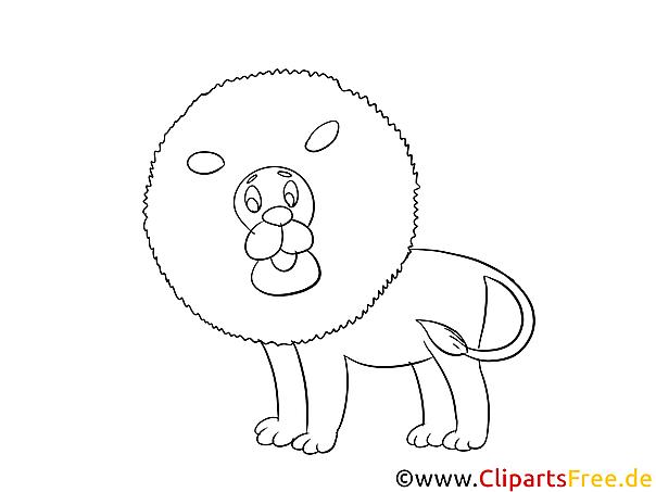 löwe ausmalvorlage zum ausmalen