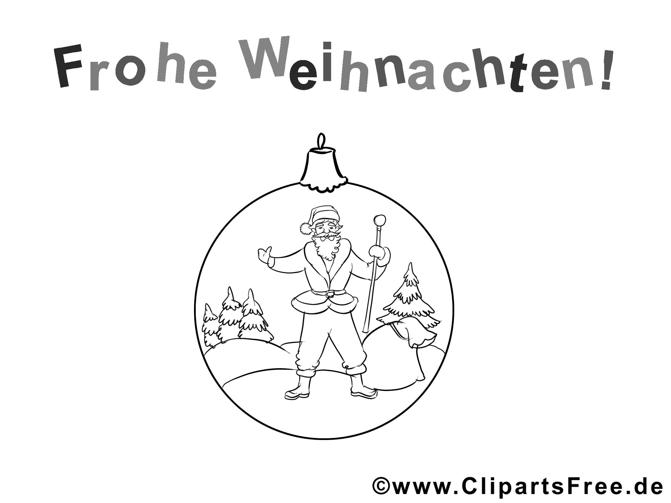 Ausmalbild Frohe Weihnachten