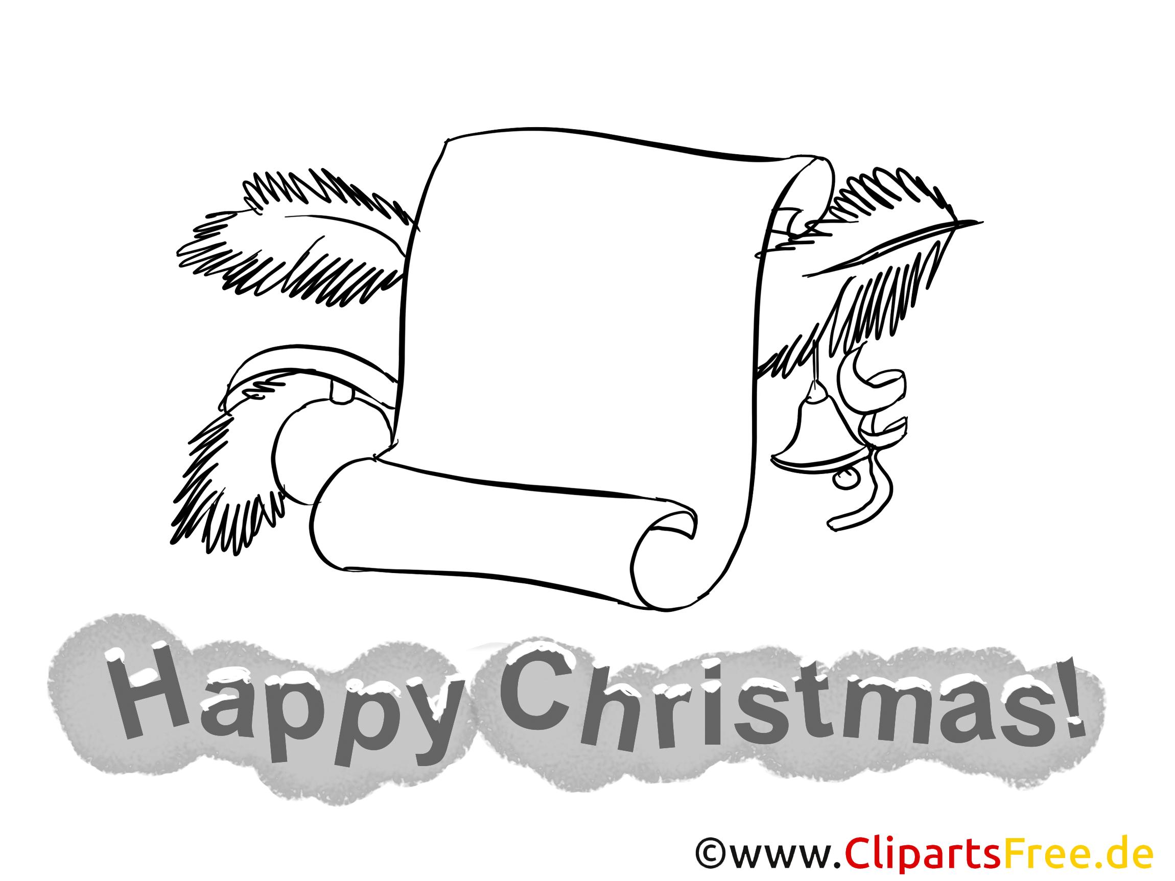 Brief zu Weihnachten Bild zum Malen