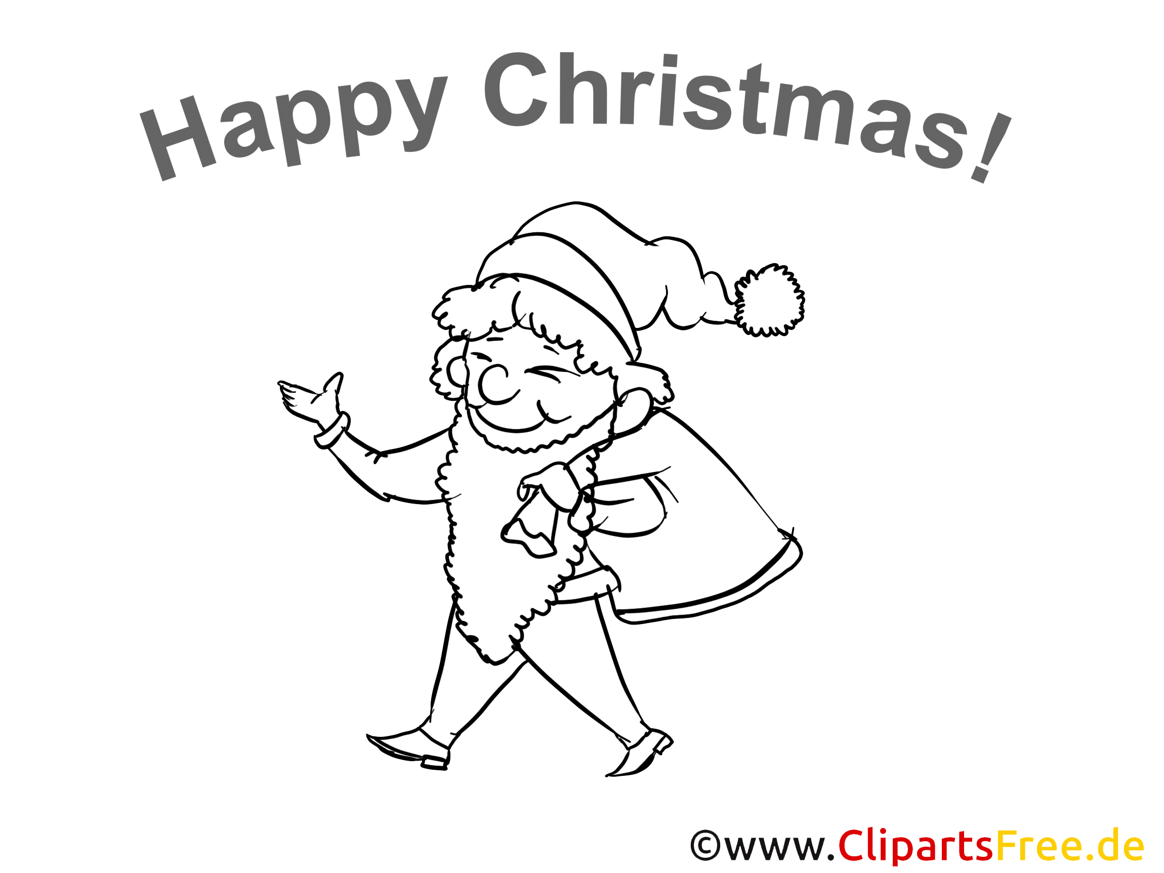 Christmas Coloring Sheet free