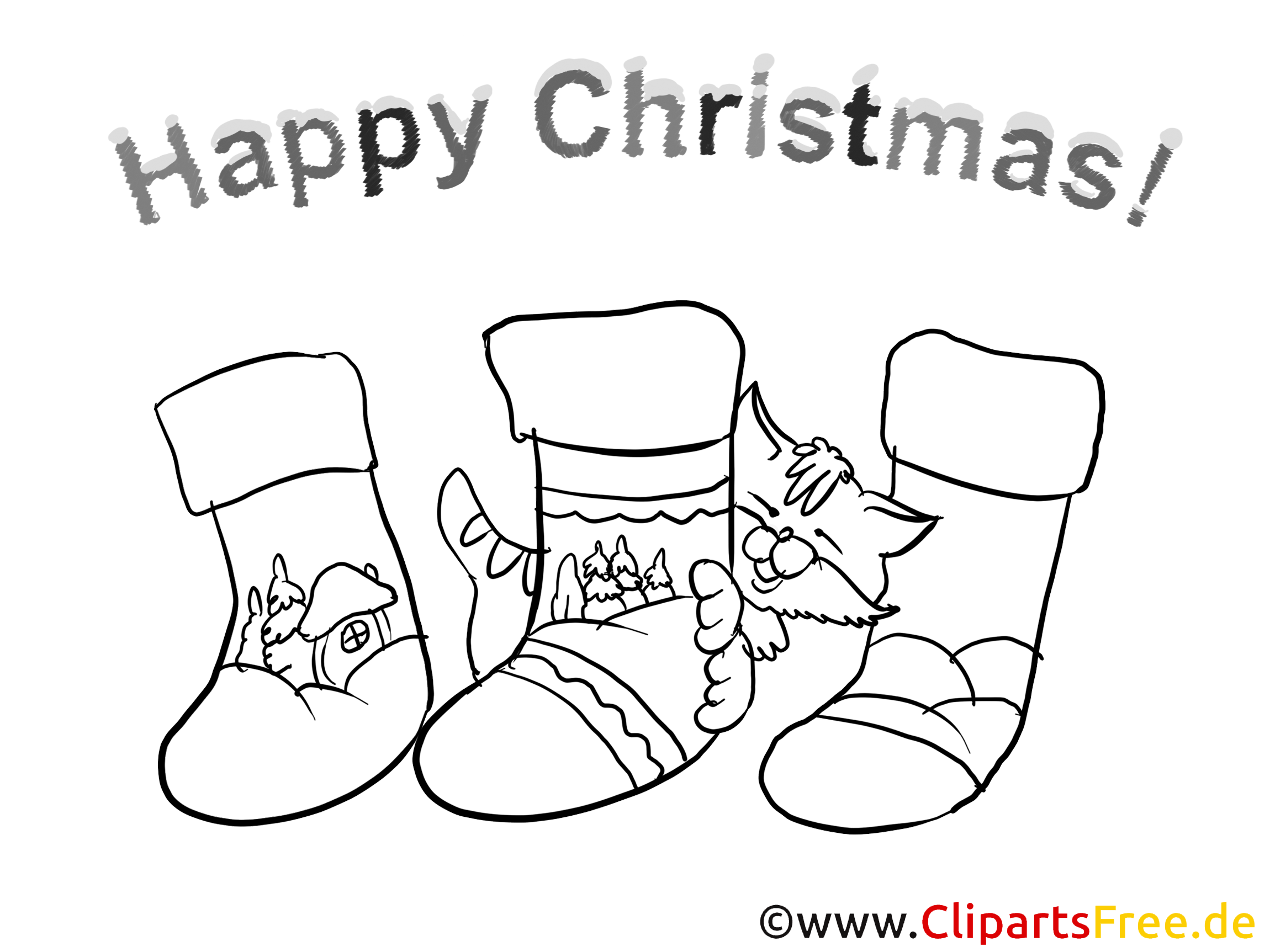 Christmas Time Colouring Pages for free