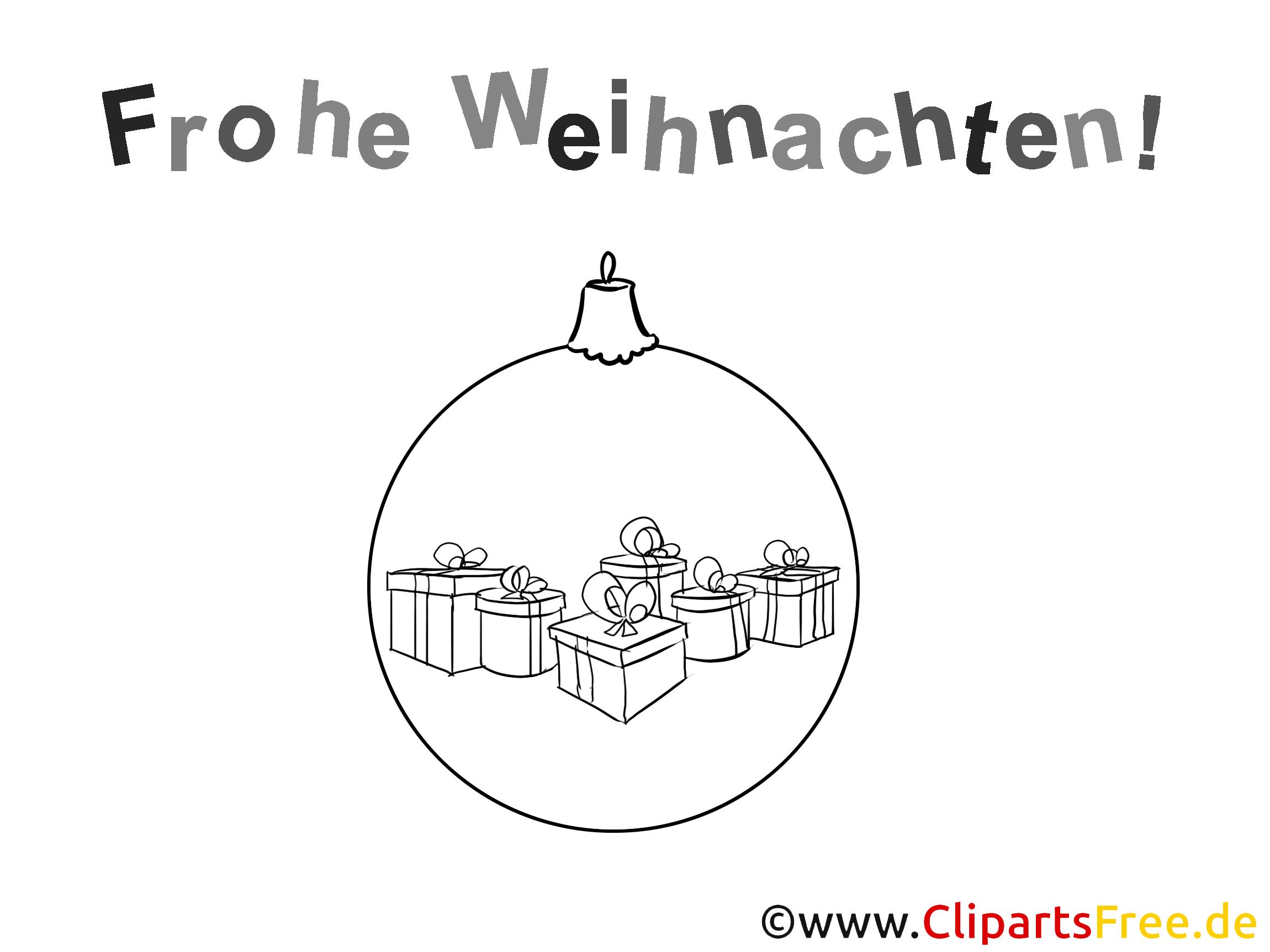 Frohe Weihnachten Ausmalbild zum Drucken