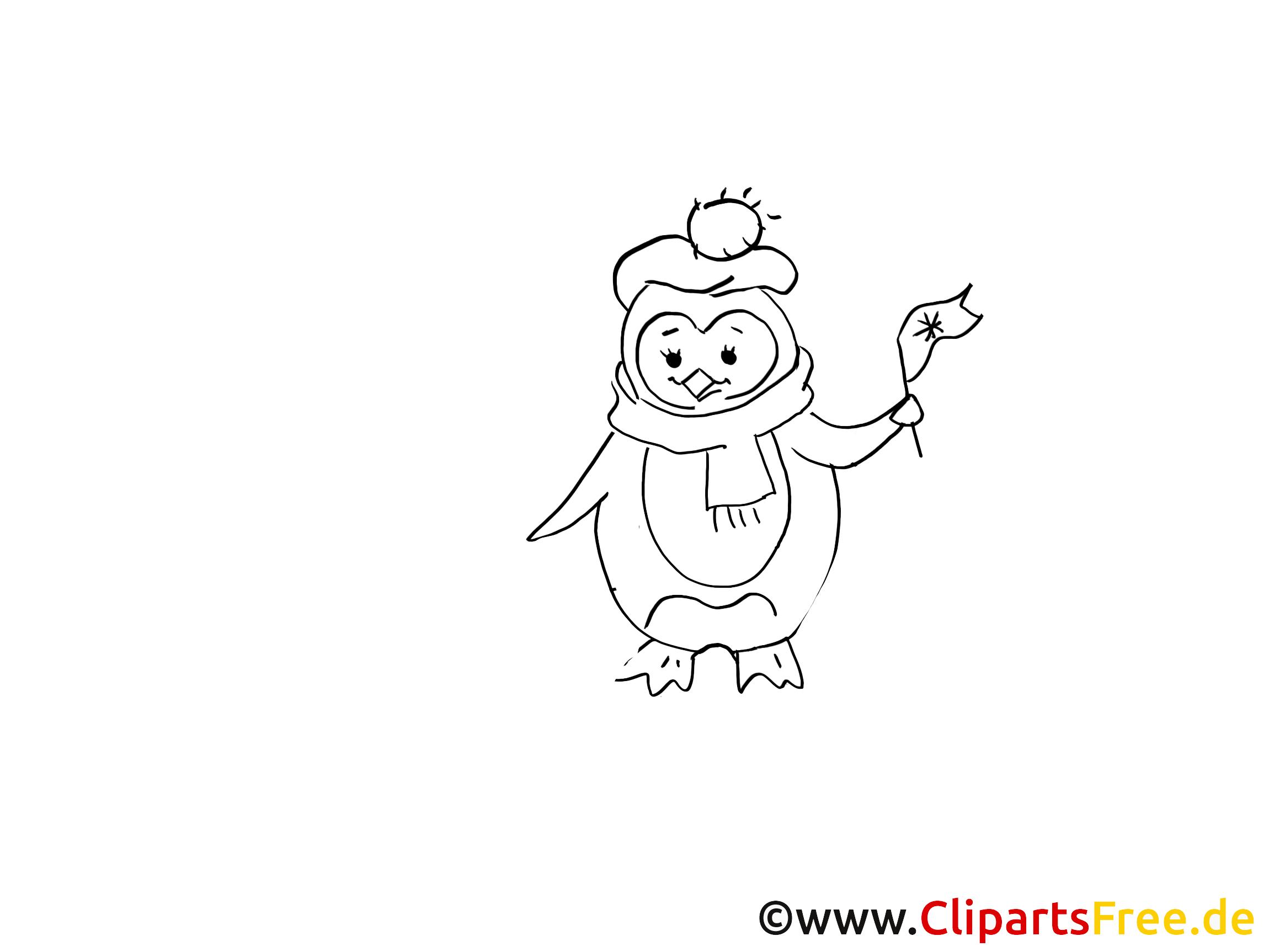 Glücklicher Pinguin Ausmalbilder gratis für Kinder