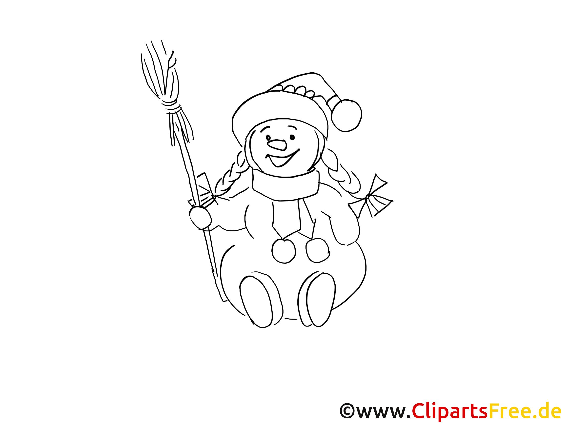 glücklicher schneemann ausmalbilder gratis für kinder