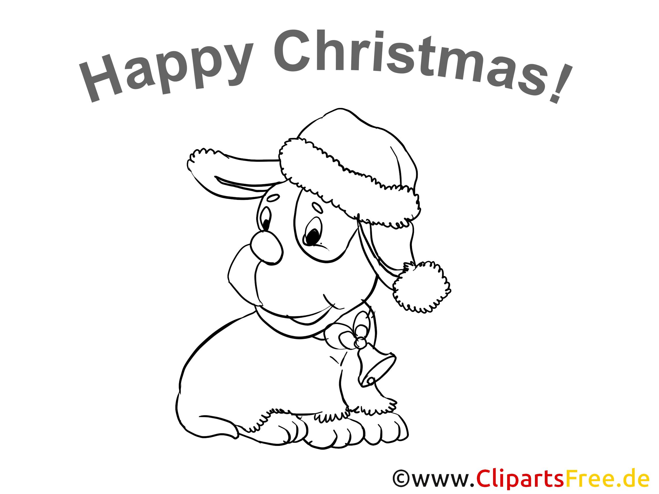 Happy Christmas Malvorlagen gratis