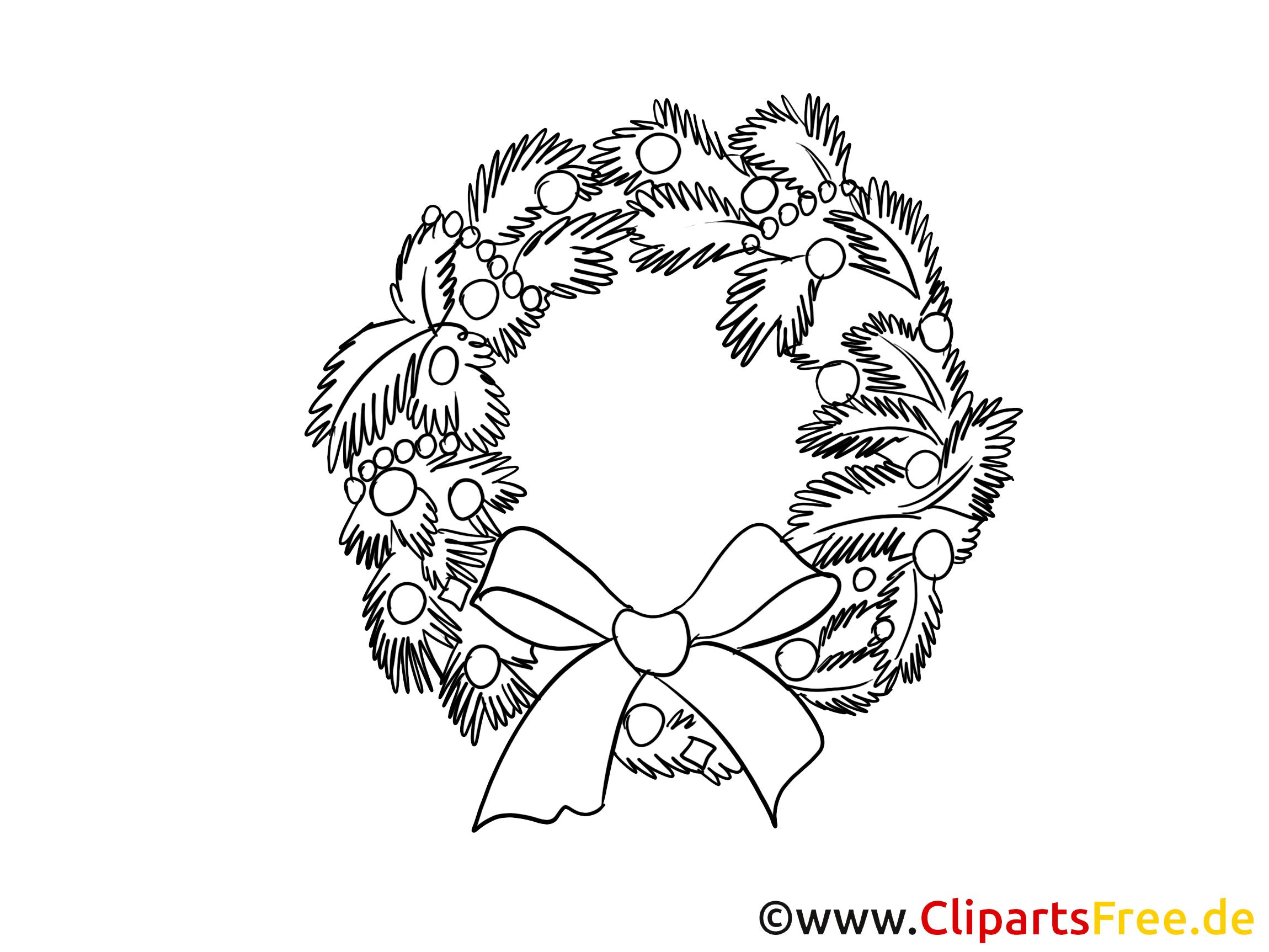Kranz Schleife Malvorlagen Weihnachten und Advent