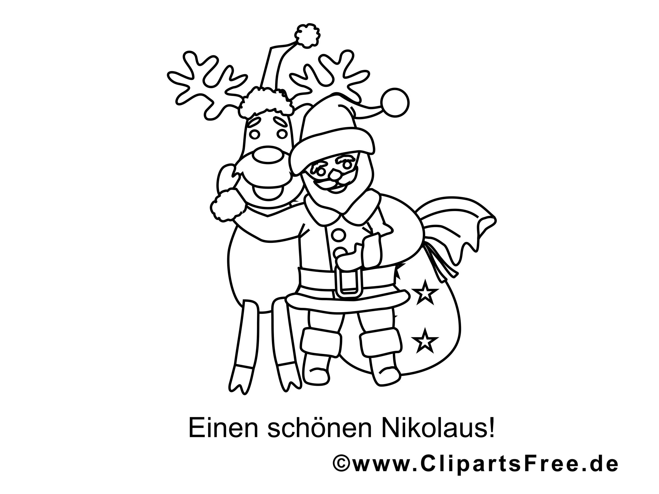 nikolaus rentier ausmalbilder für kinder kostenlos ausdrucken