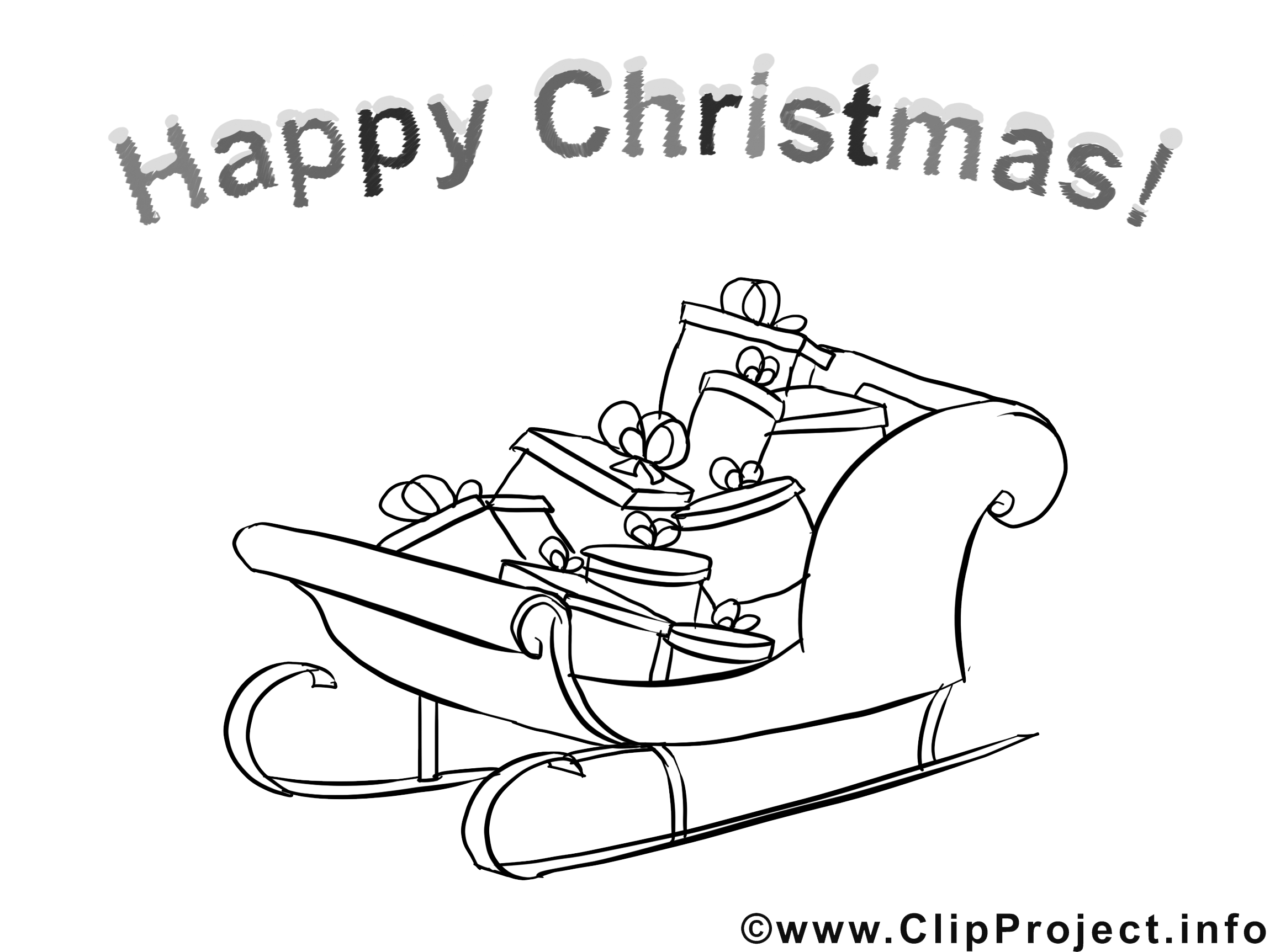 Page for Coloring Happy Christmas