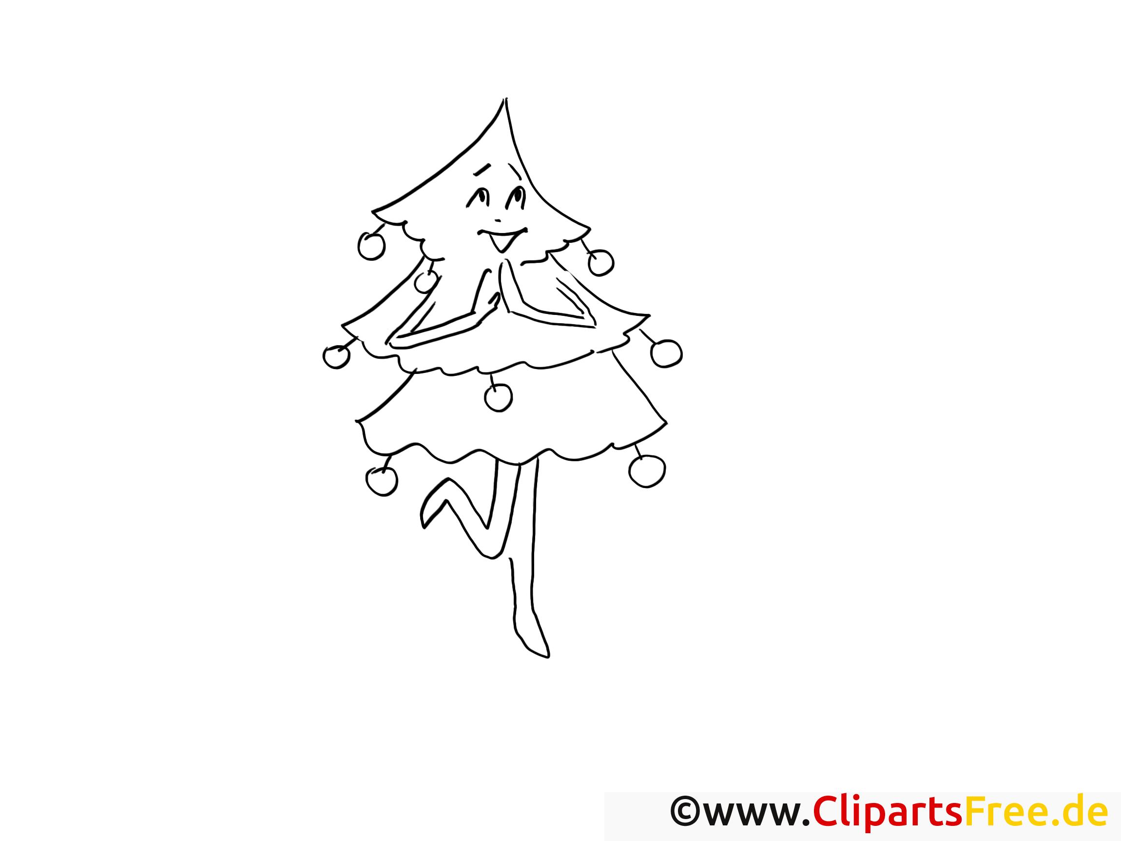 tanzender tannenbaum ausmalbilder gratis für kinder