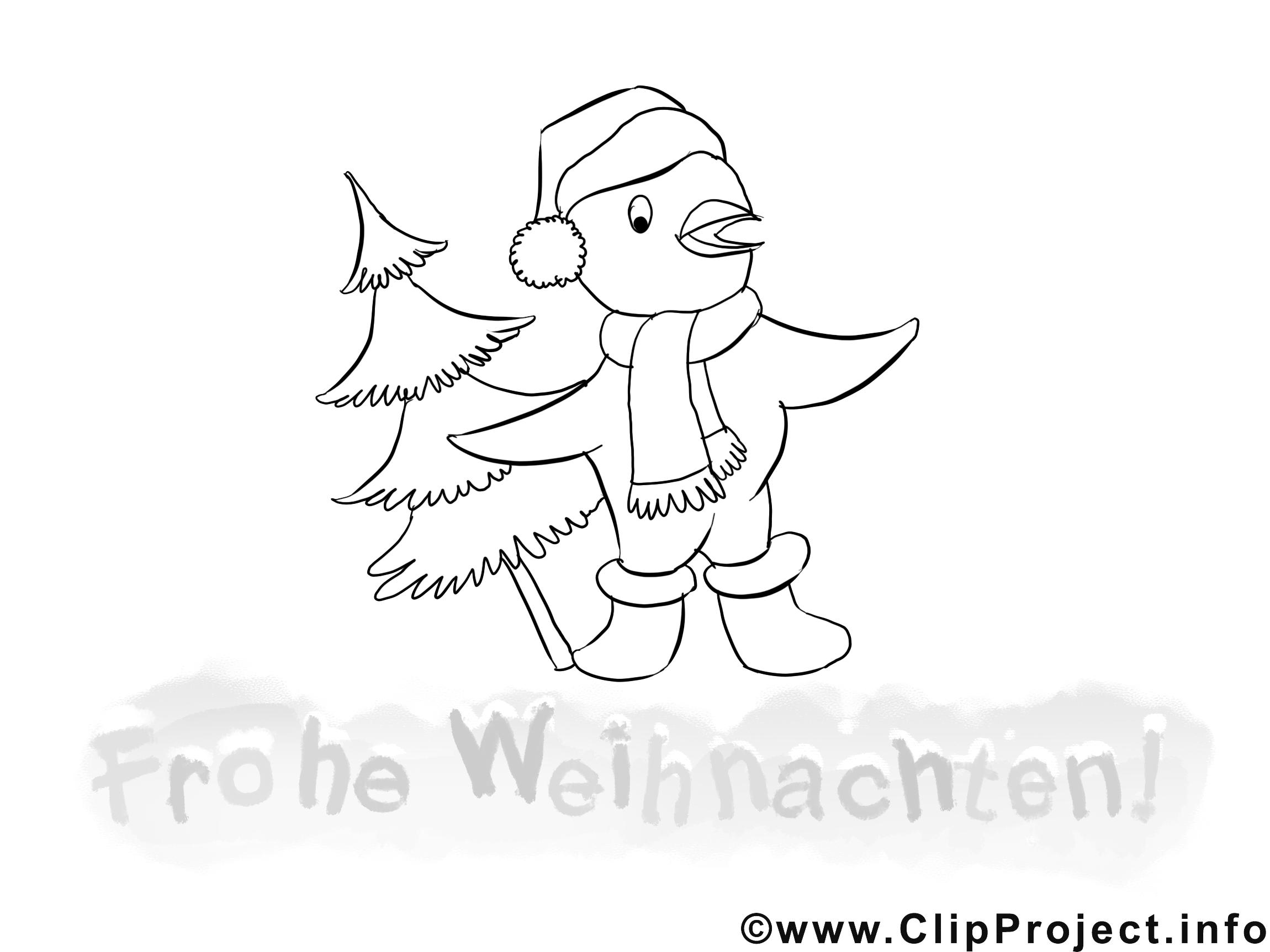 vogel mit tannenbaum malvorlage gratis