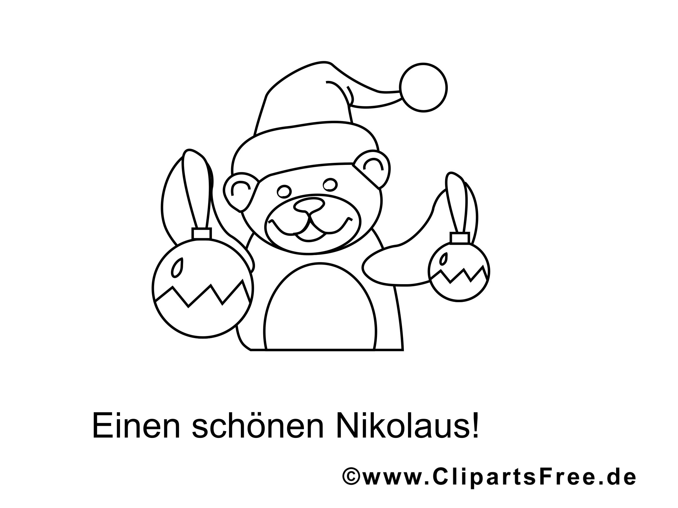 Weihnachten Ausmalbilder für Kinder kostenlos ausdrucken