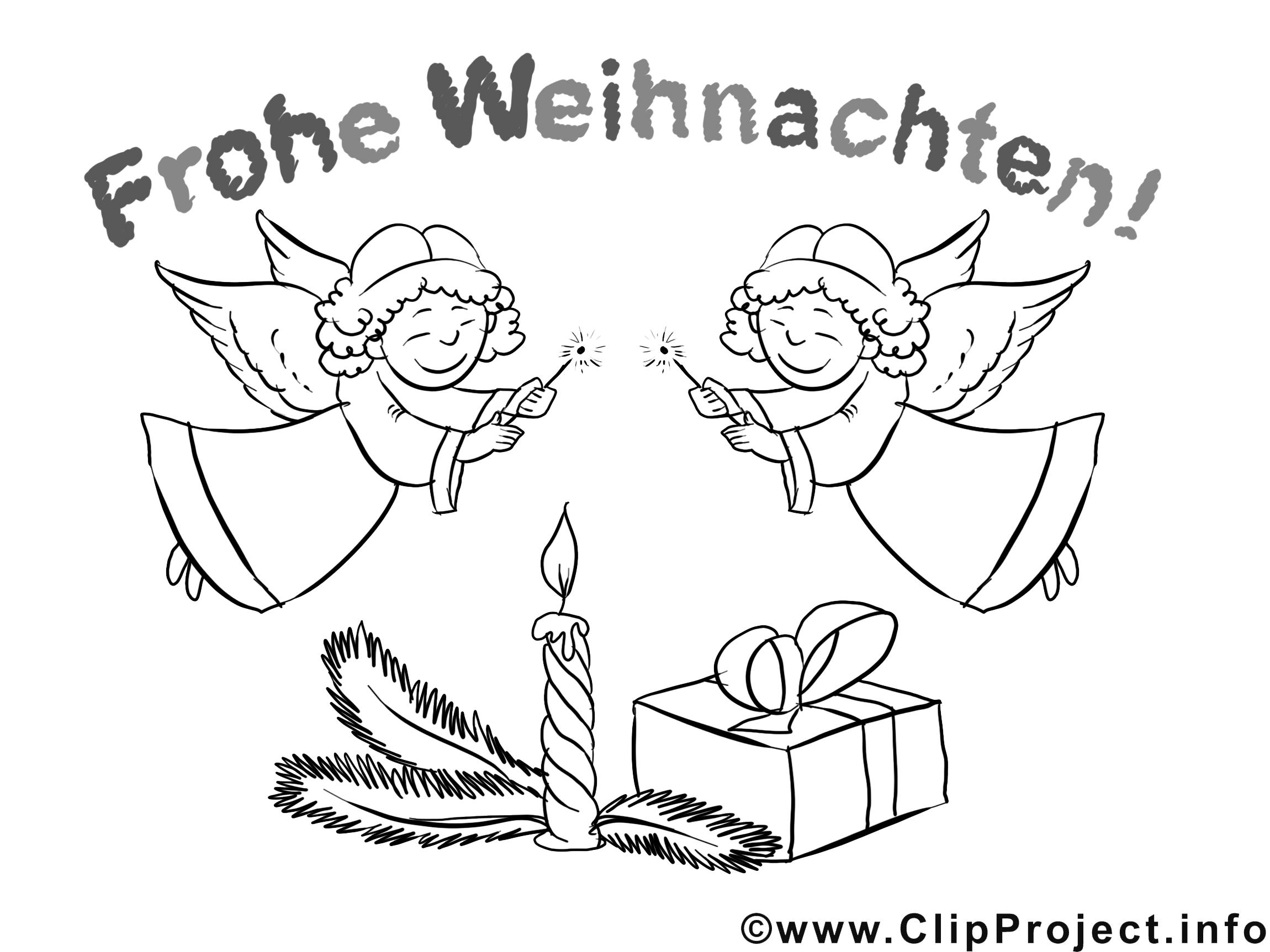 Weihnachtsbilder zum Ausdrucken und Ausmalen kostenlos