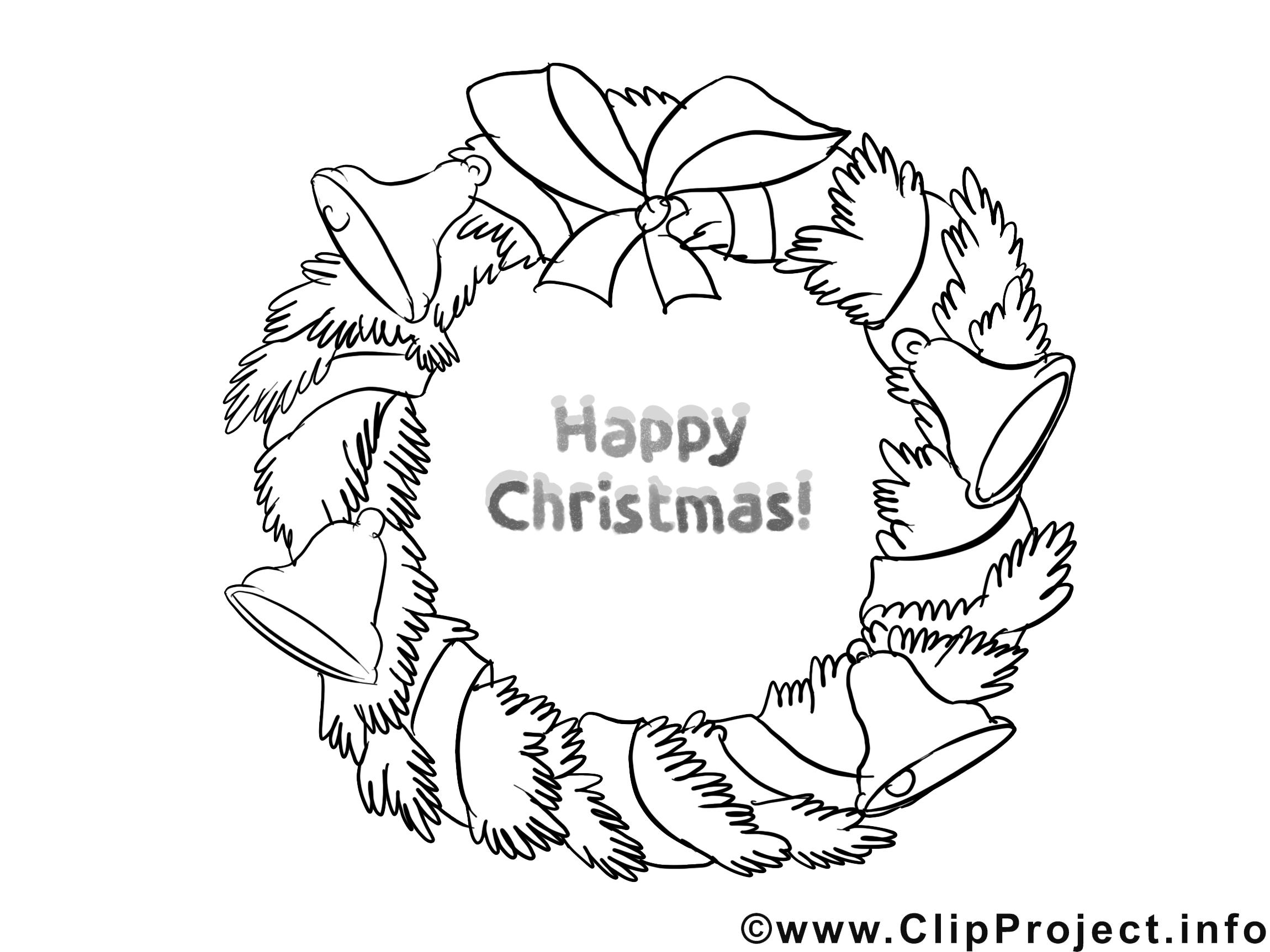 Weihnachtskranz Malvorlage gratis
