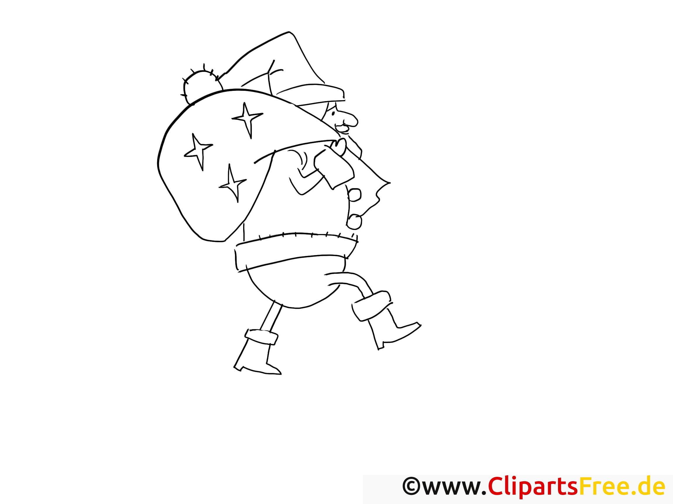 weihnachtsmann bescherung ausmalbilder
