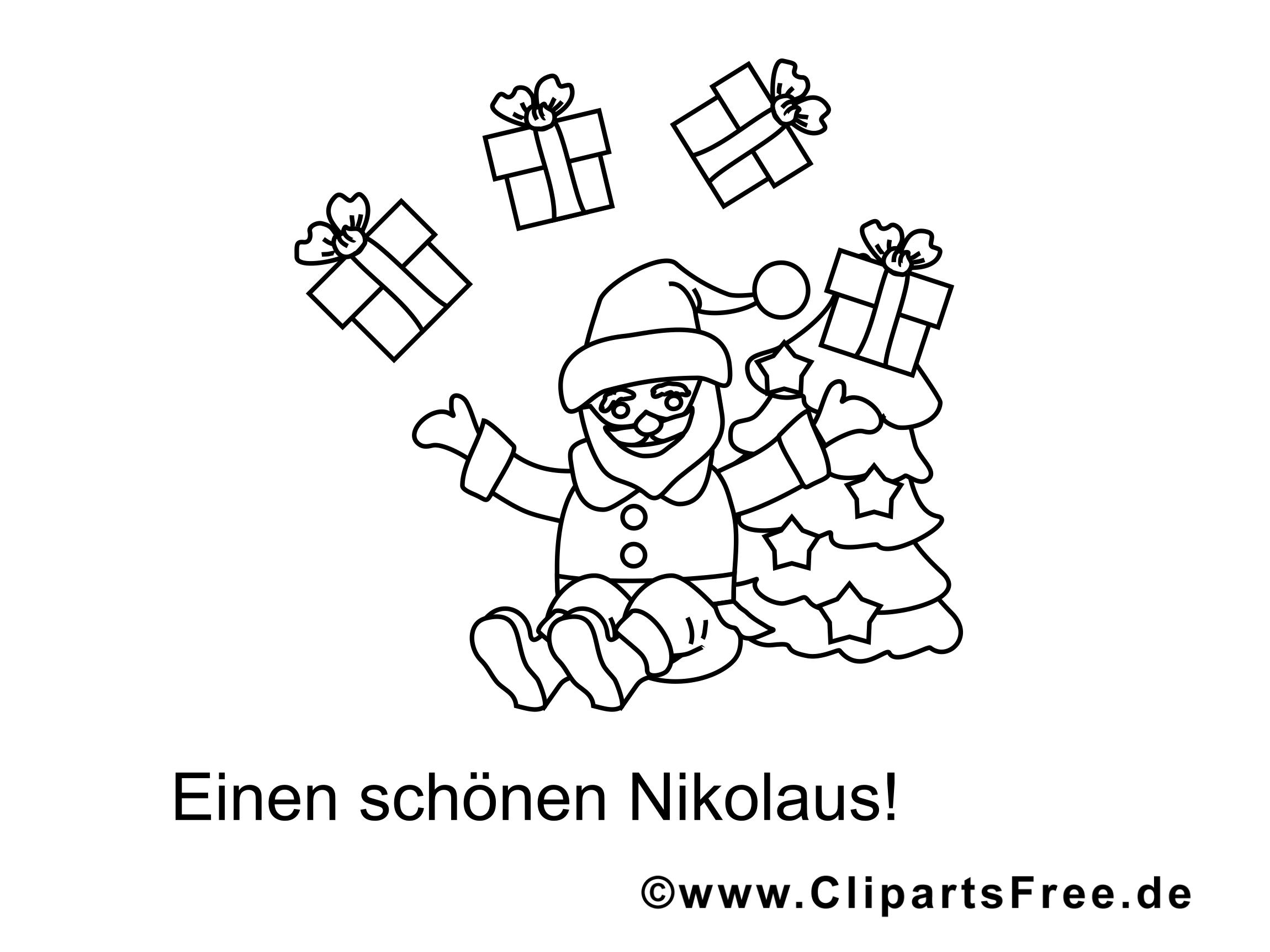 weihnachtsmann mit geschenken malvorlage für kinder