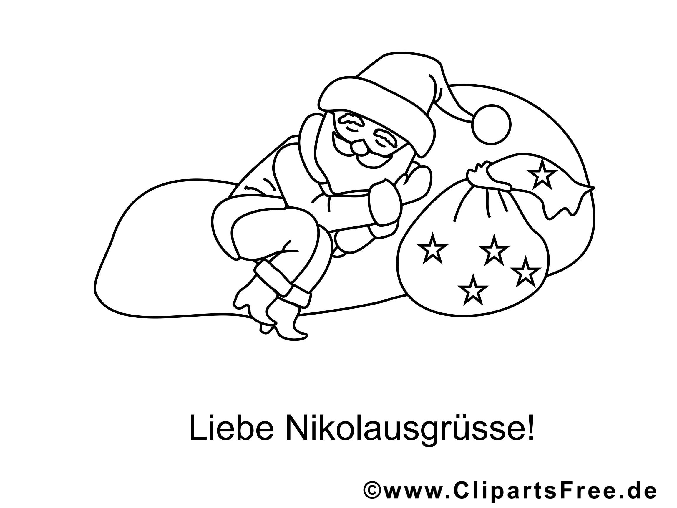 weihnachtsmann ruht sich aus ausmalbild