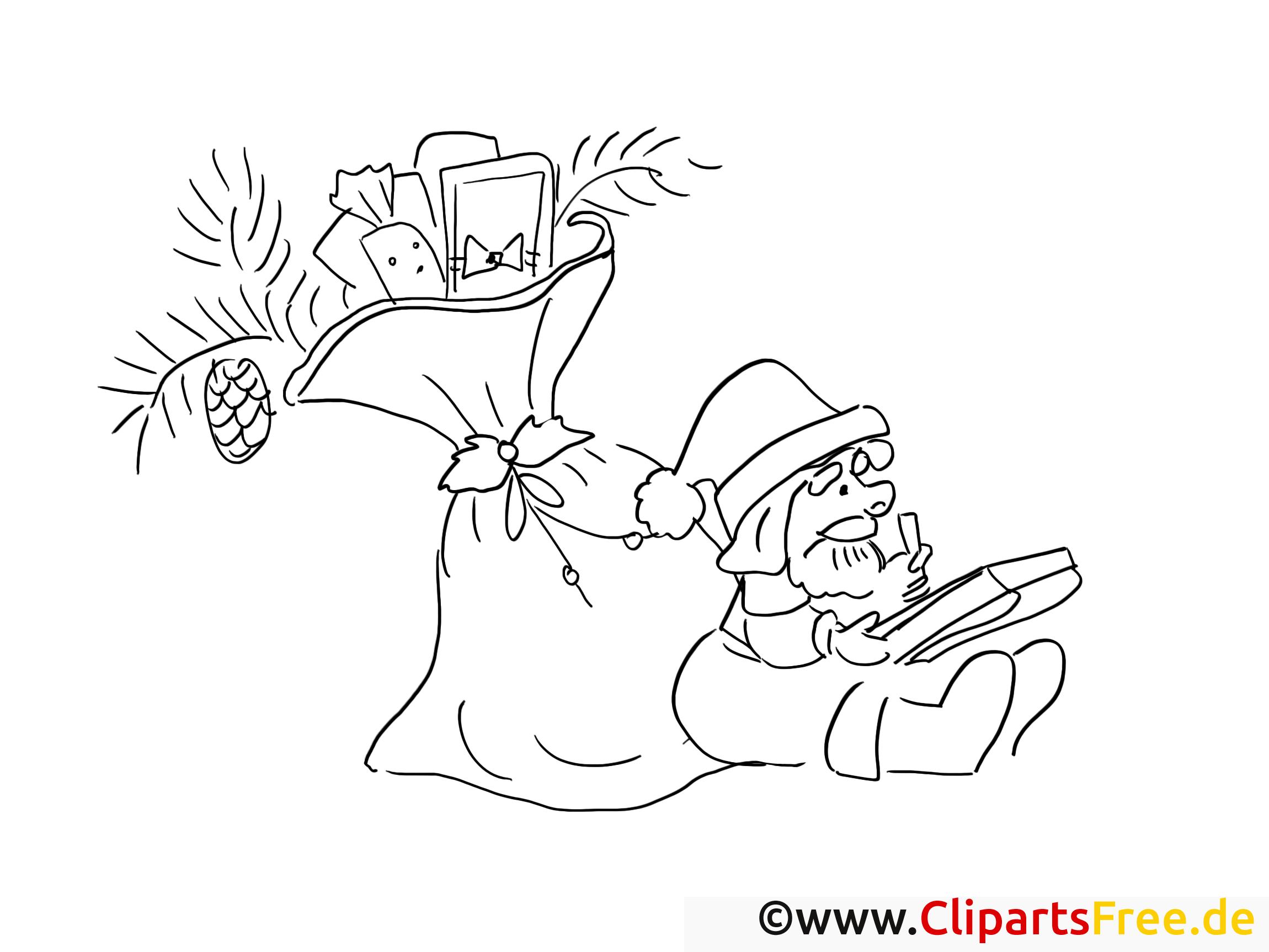 weihnachtsmann verteilt geschenke ausmalbilder für kinder