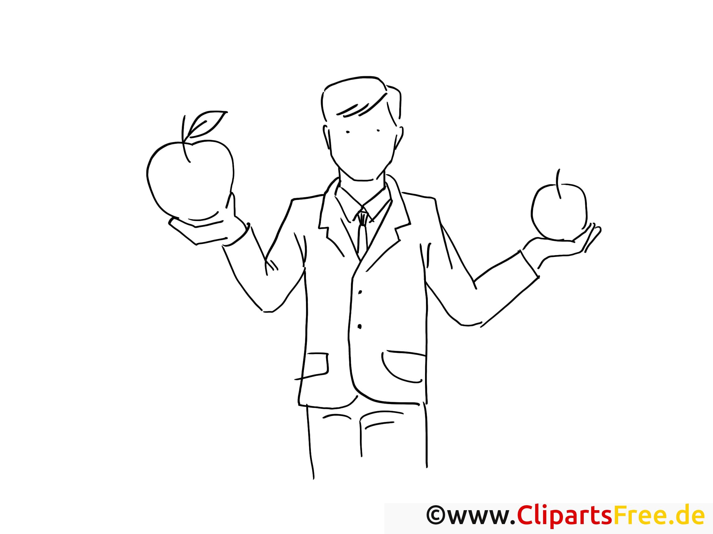 Äpfel mit Äpfeln vergleichen - Bilder zum Drucken und Ausmalen