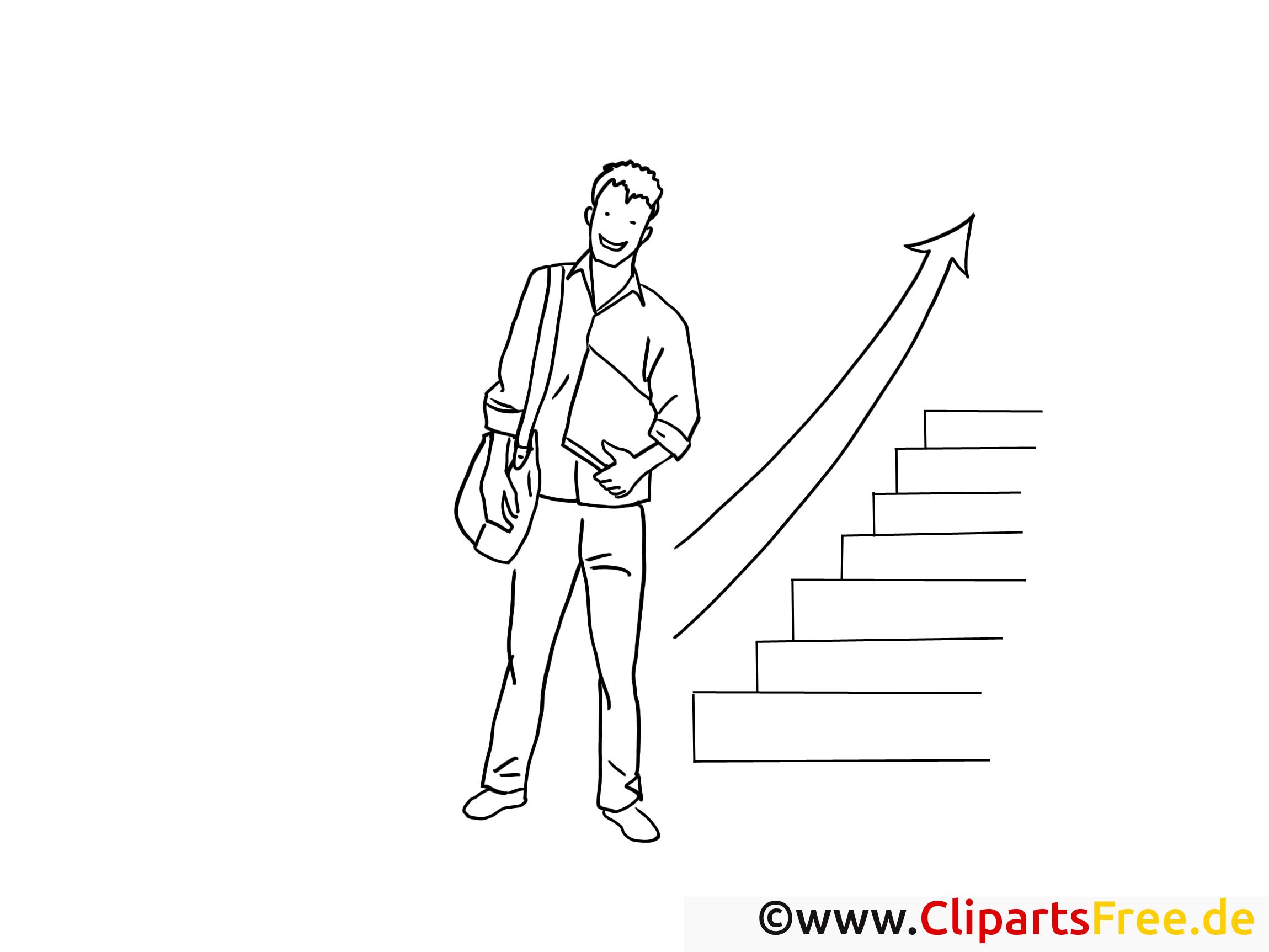 Aufstieg Schwarz-weiss Clipart-Bilder zum Drucken und Ausmalen (