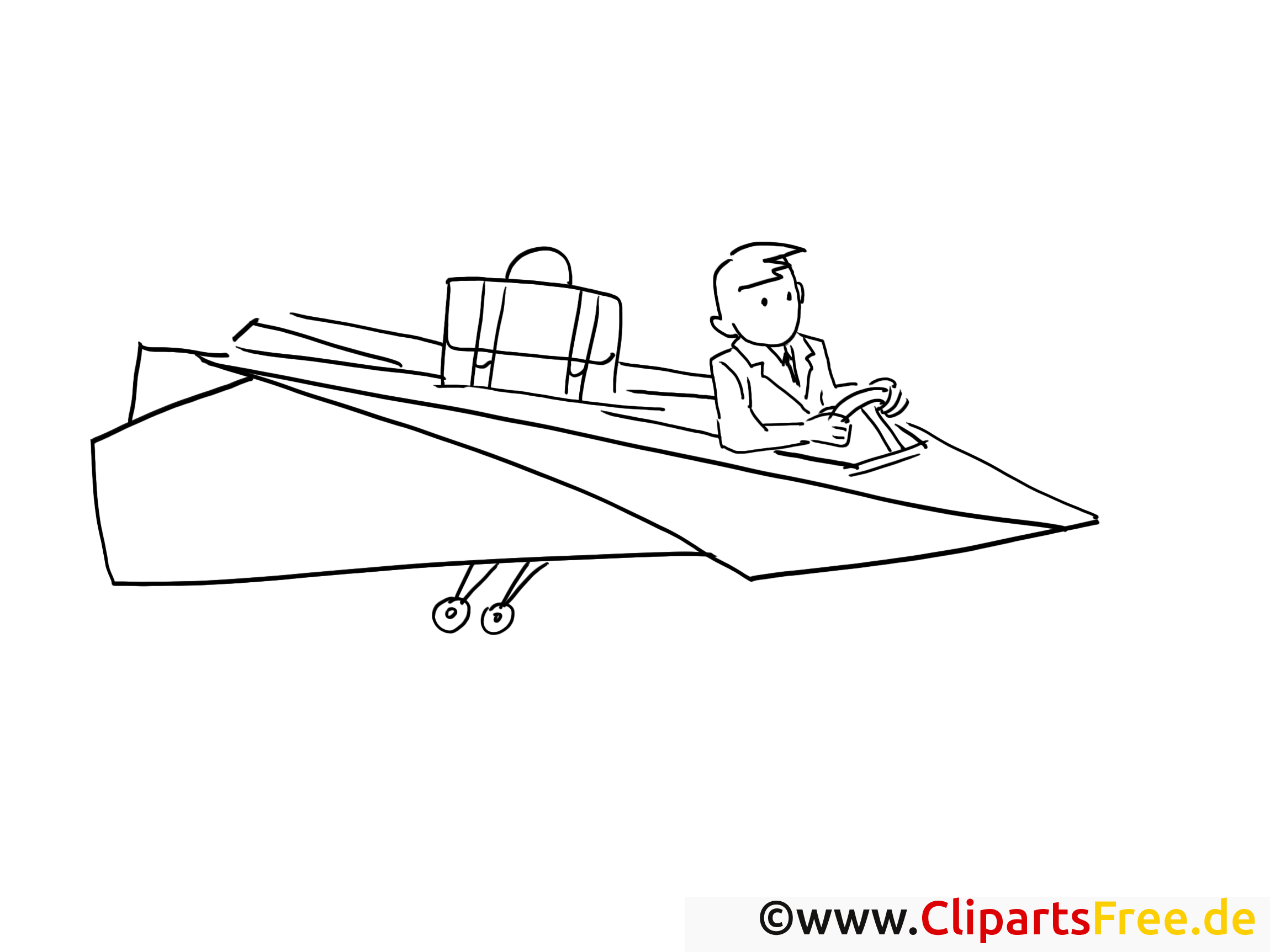 Paper Airplane Coloring Page Office Work