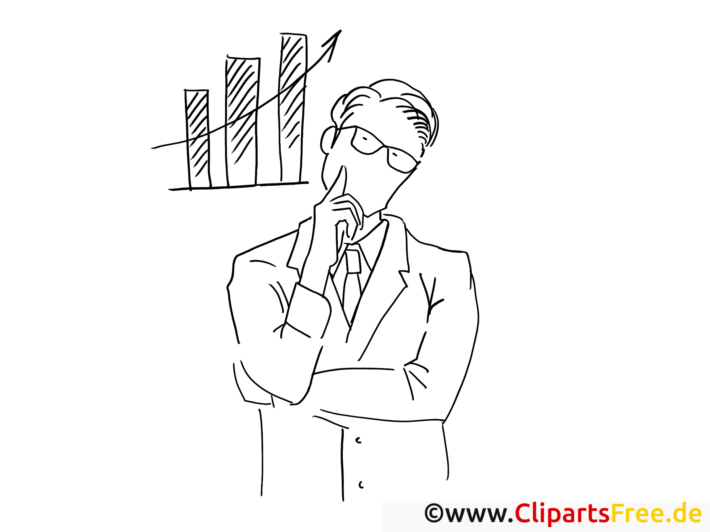 Sales Manager Malbild - Arbeit im Büro