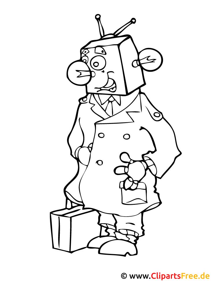 Roboter Malvorlage kostenlos