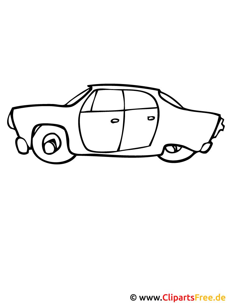Ausmalbild Automobil
