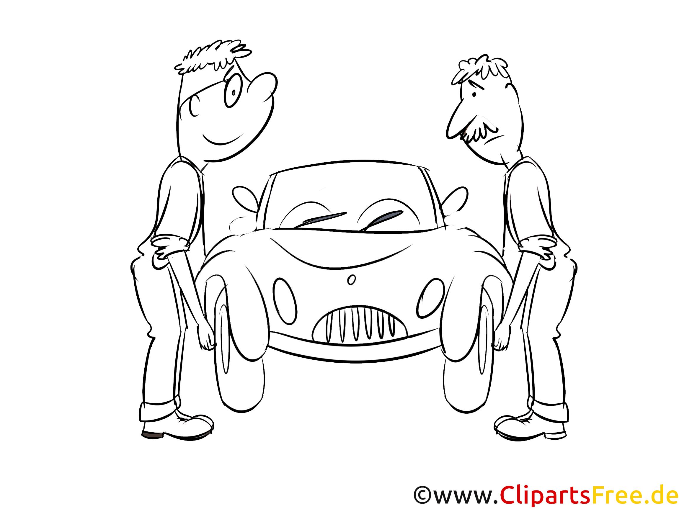 Auto reparieren Ausmalbild kostenlos