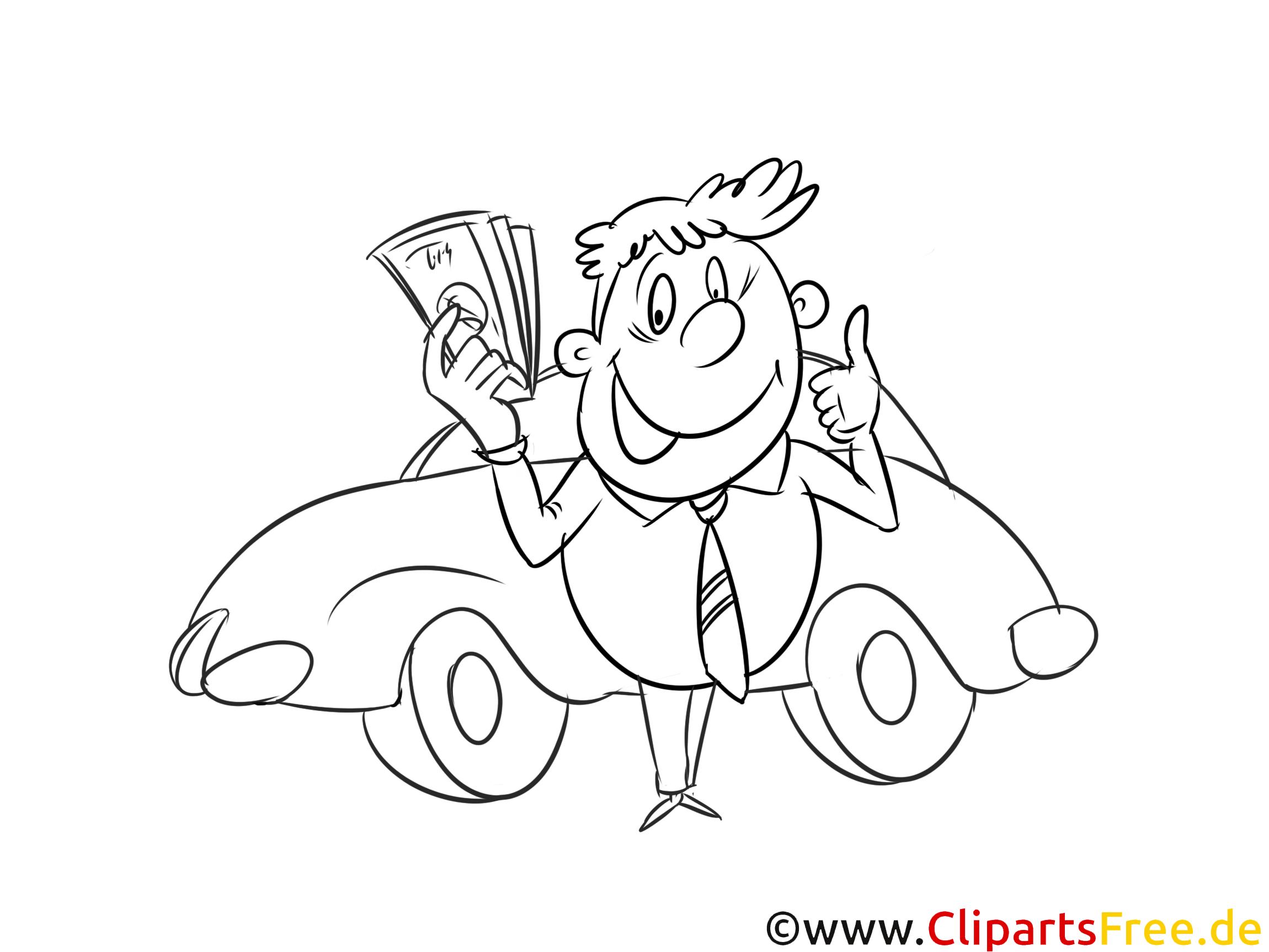 Auto verkaufen Malbild, Bild, Grafik, Illustration