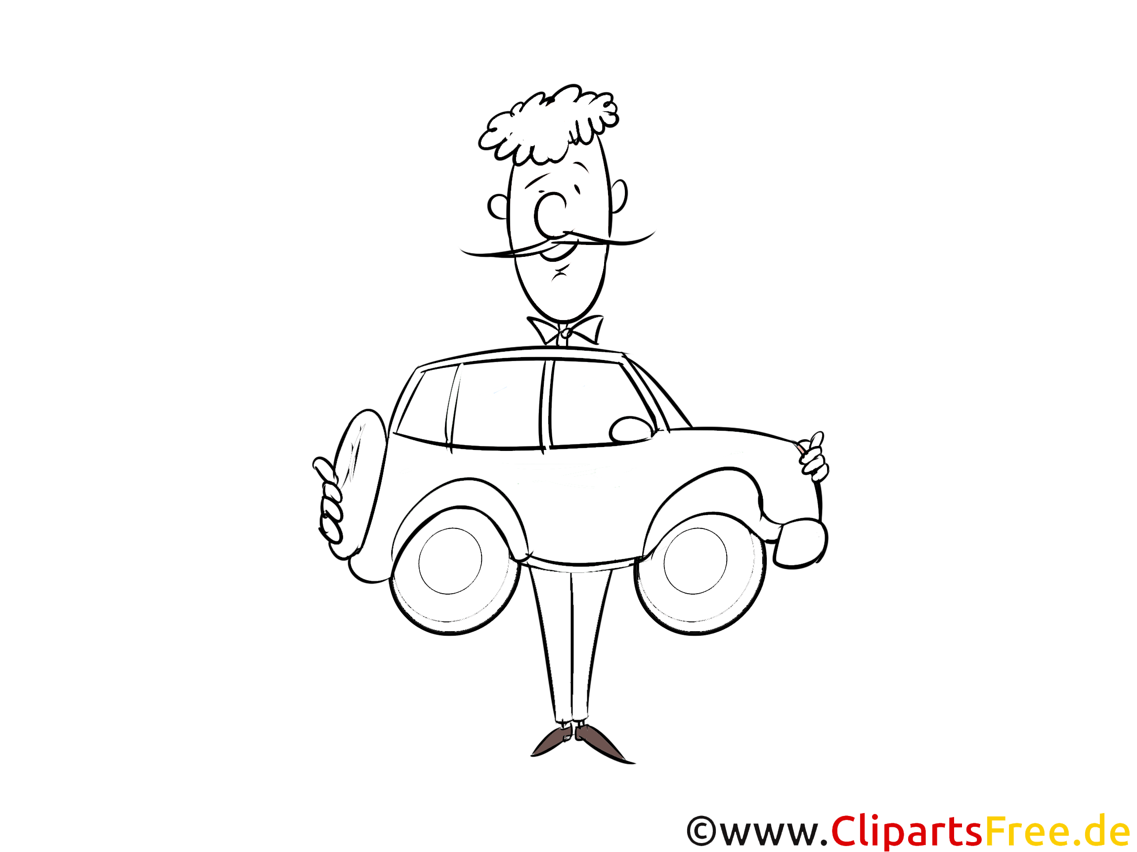 Autokauf Malbild, Bild, Grafik, Illustration