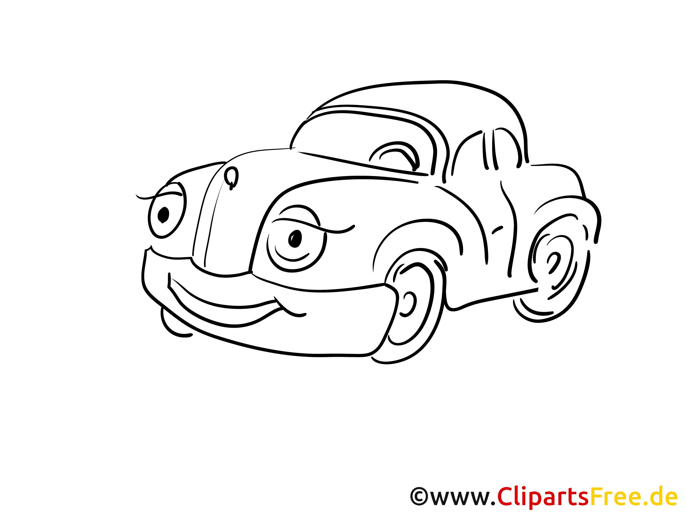 Fahrzeug Auto Ausmalbild gratis