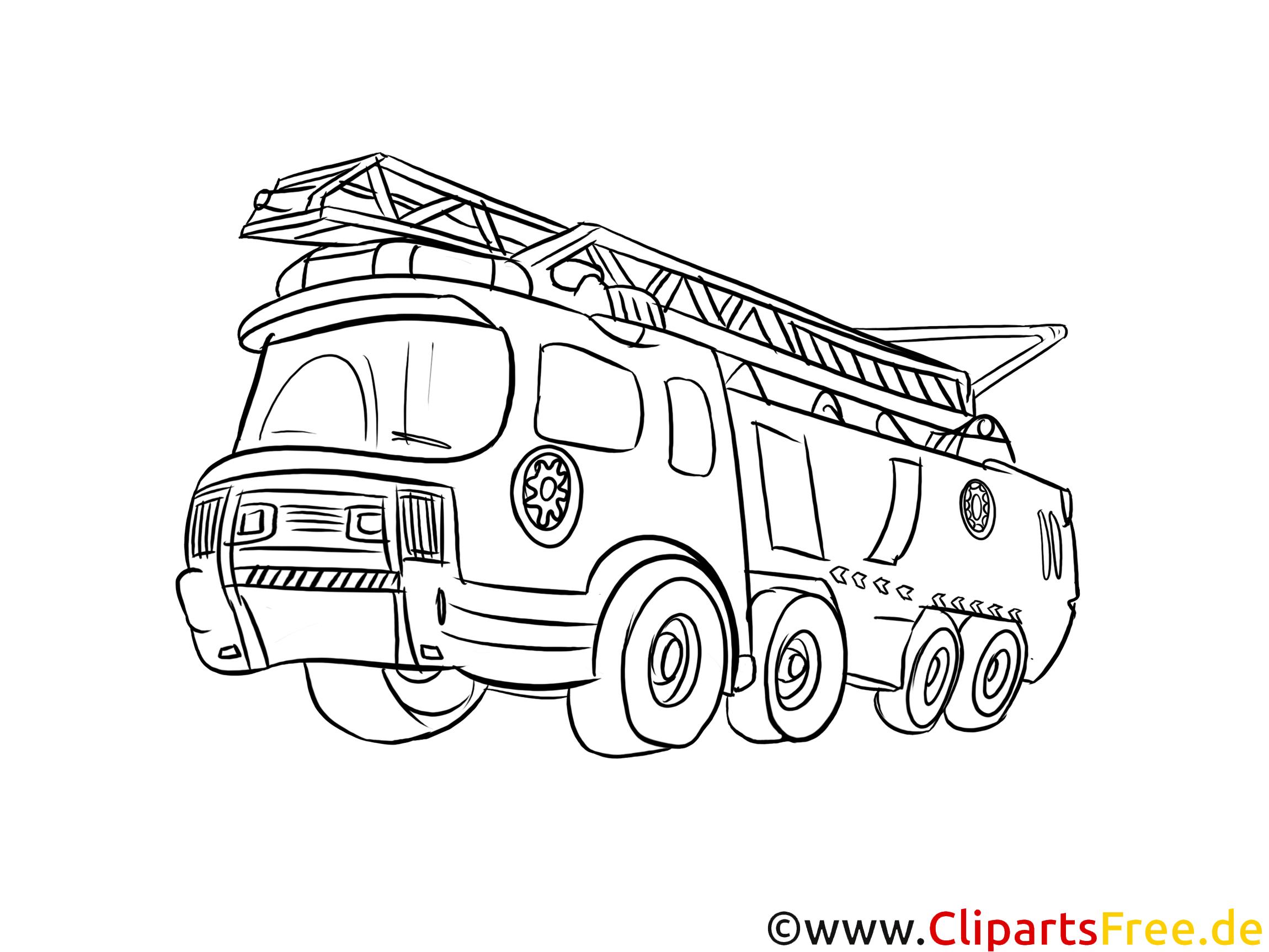 Feuerwehrauto Ausmalbild