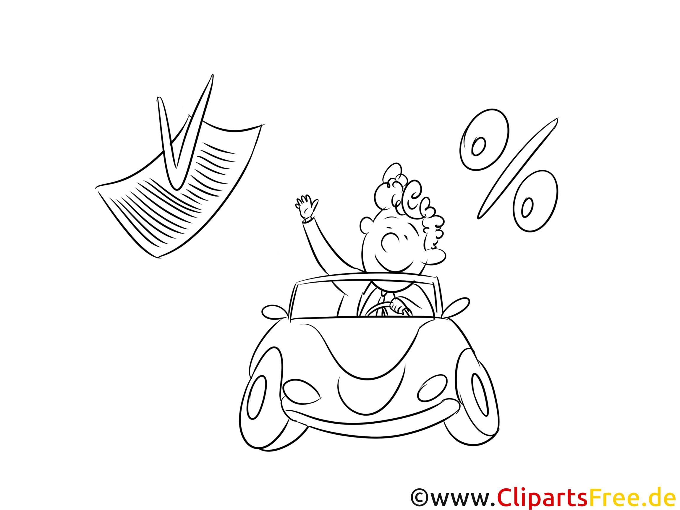 Finanzierung Auto Ausmalbild, Bild, Grafik, Illustration