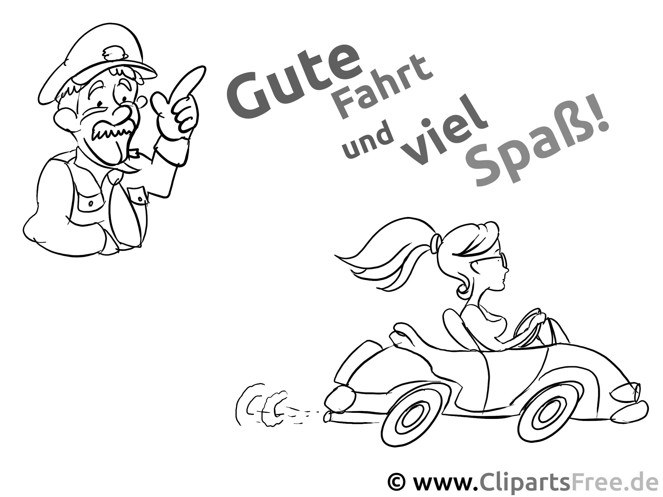 Führerschein Bild zum Ausmalen - Wandschablone zum Ausdrucken