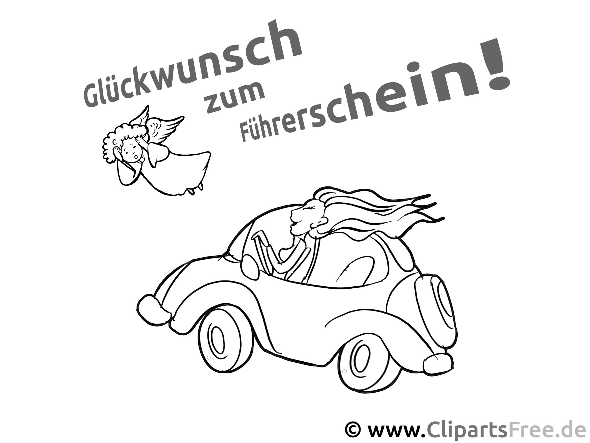 Glückwunsch zum Führerschein - Wandschablone zum Ausdrucken