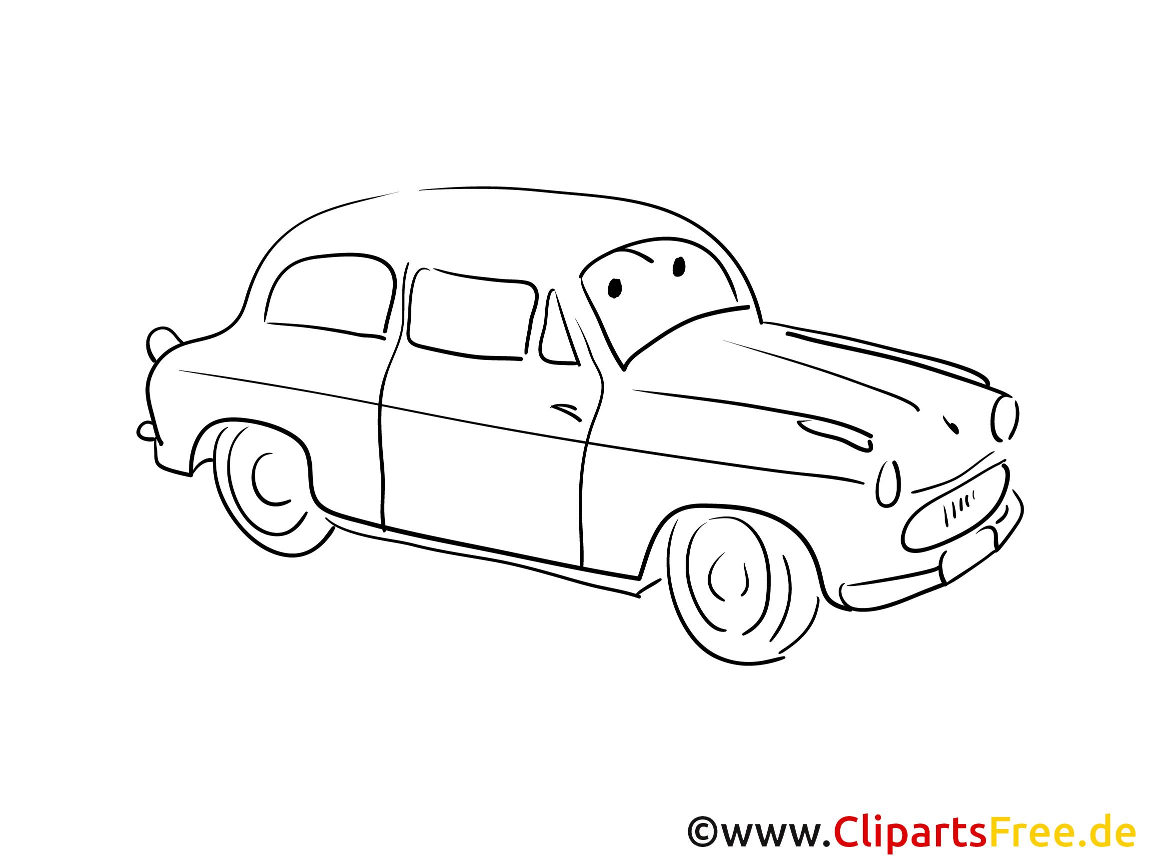 Kraftfahrzeug Malvorlage zum Drucken