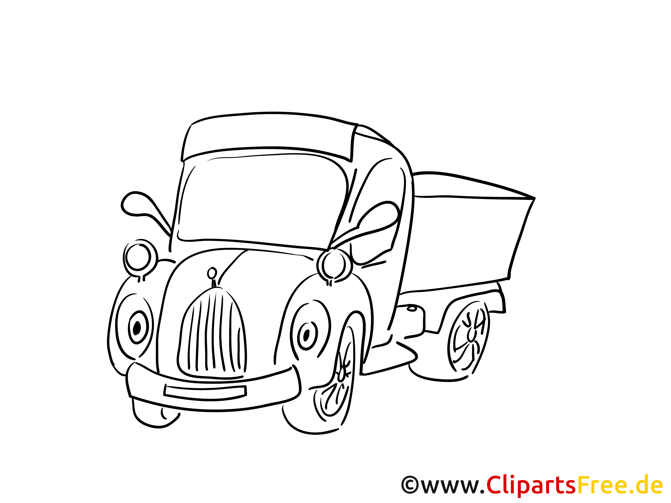 Lastkraftwagen Malvorlage zum Drucken