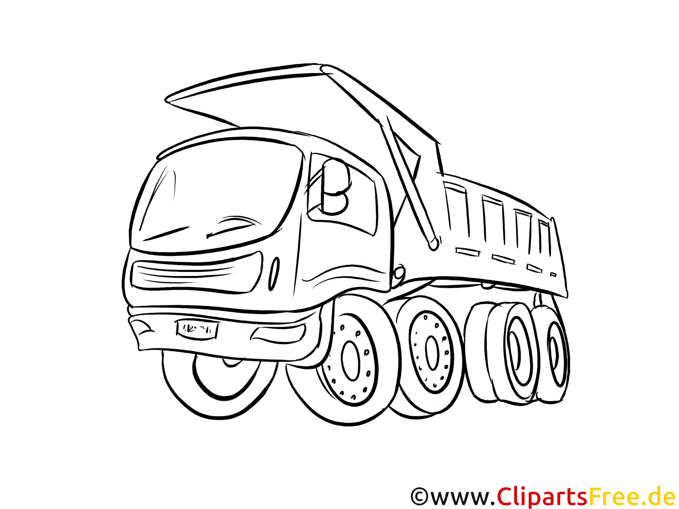 Lastwagen Malvorlage Kipper
