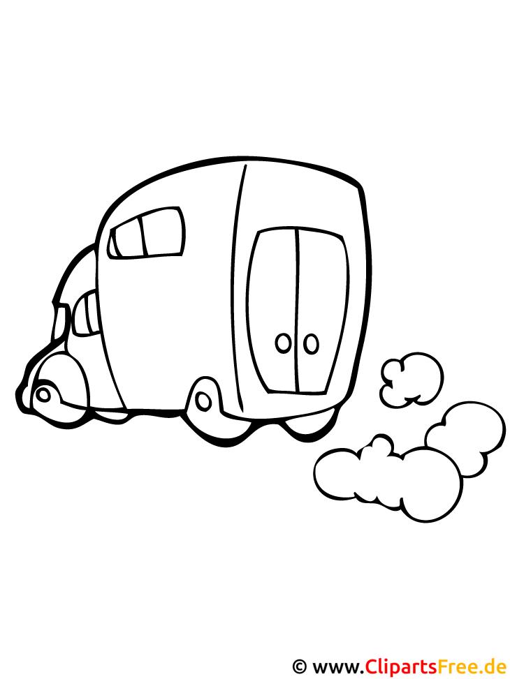 Lieferwagen Ausmalbild gratis