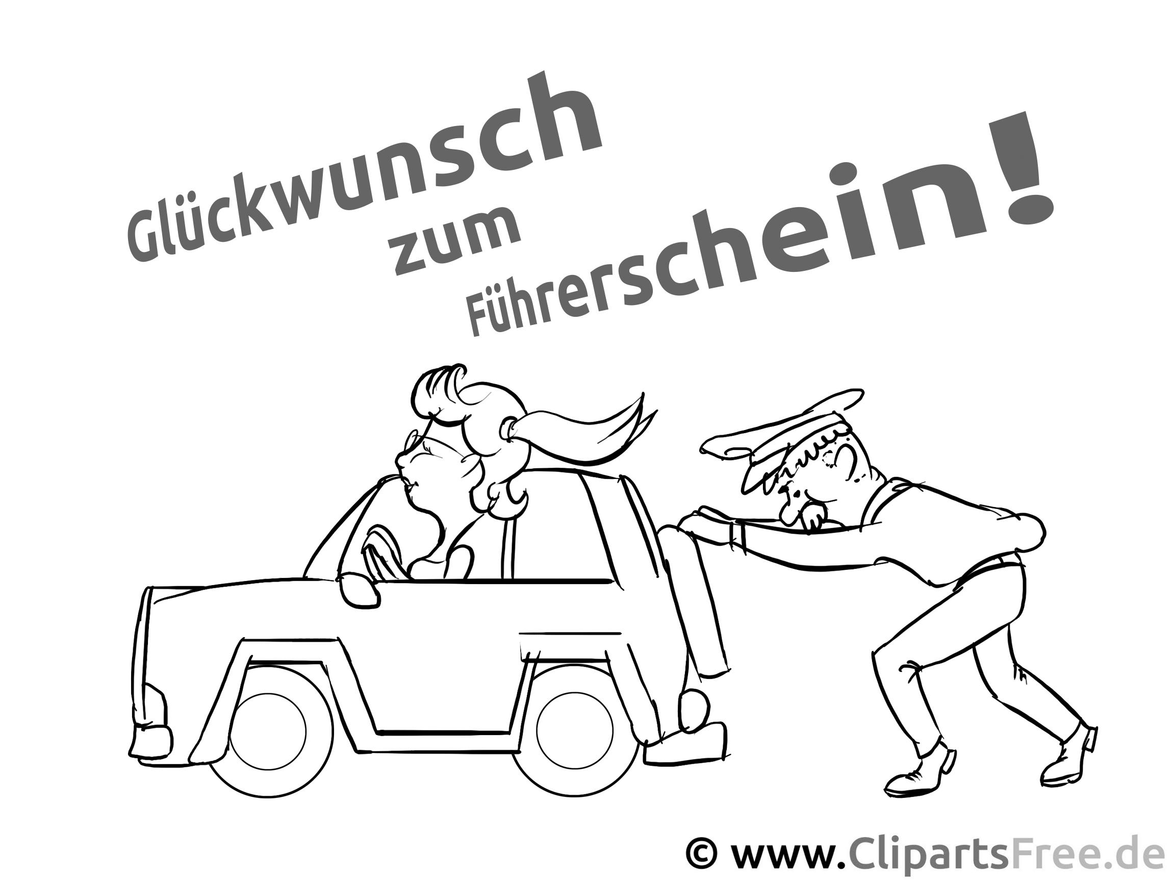 Malbilder zum Ausmalen zum Thema Autos und Fuehrerschein