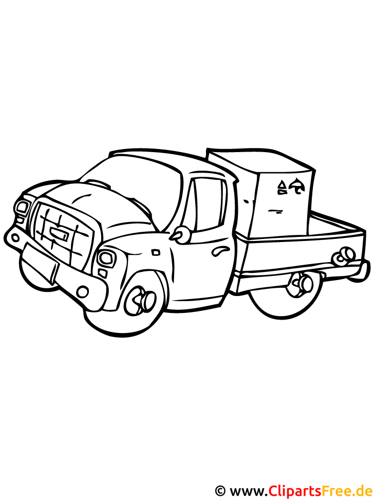 Nutzfahrzeug Malvorlage gratis NKW