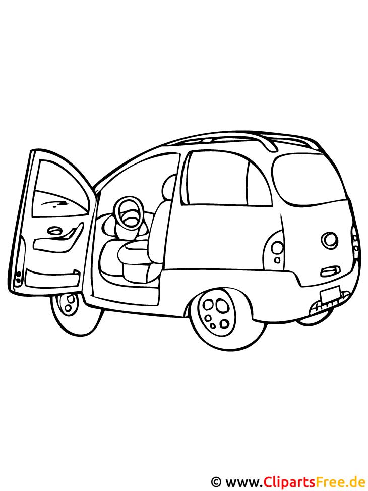 PKW Ausmalbild - Autos Ausmalbilder