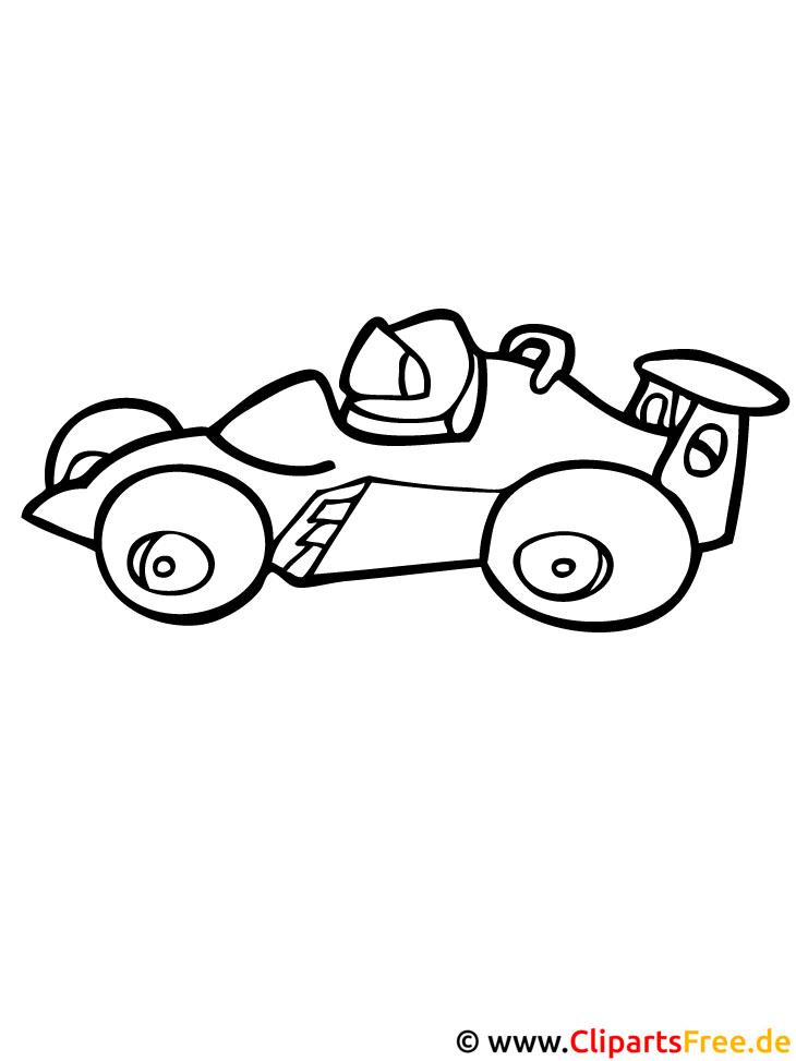 Rennwagen Malvorlage kostenlos